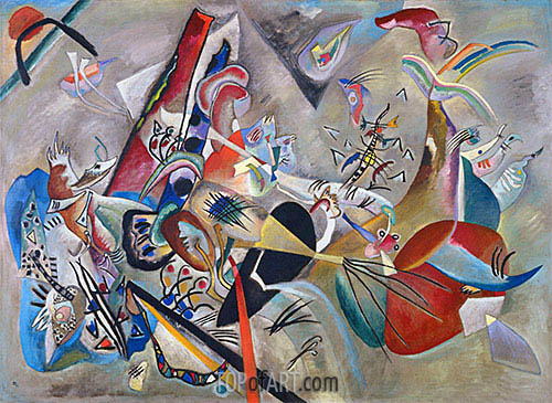 In Gray, 1919 | Kandinsky| Painting Reproduction