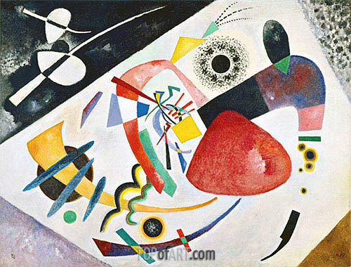 Red Spot II, 1921 | Kandinsky| Painting Reproduction