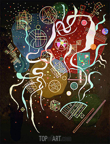 Movement I, 1935 | Kandinsky | Gemälde Reproduktion