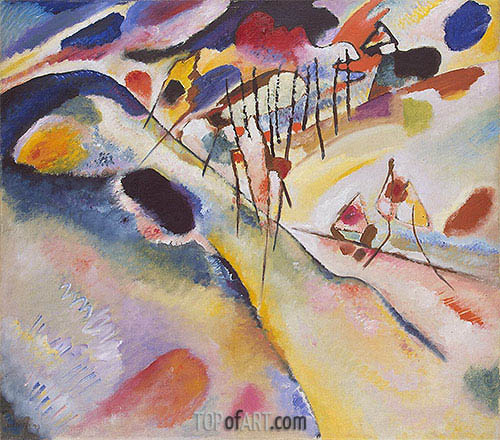 Landscape, 1913 | Kandinsky | Painting Reproduction