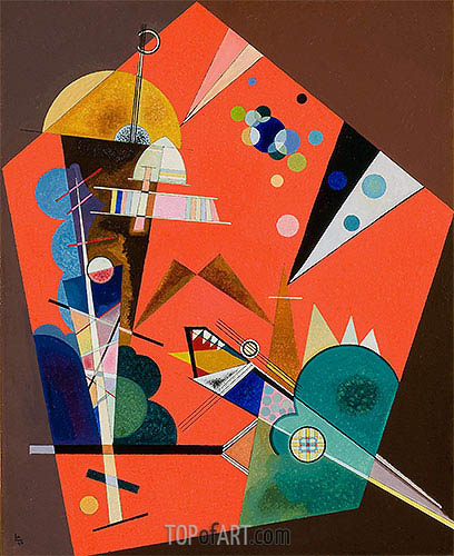 Tension in Red, 1926 | Kandinsky | Painting Reproduction