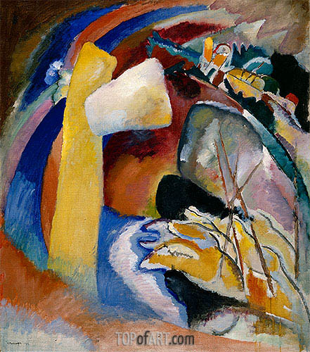 Study for Painting with White Form, 1913 | Kandinsky | Painting Reproduction