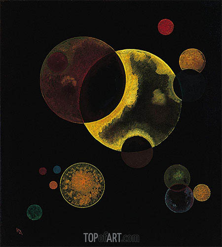 Heavy Circles, 1927 | Kandinsky | Painting Reproduction