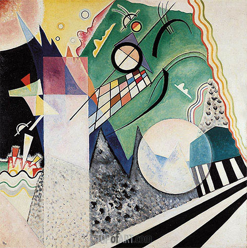 Open Green, 1923 | Kandinsky| Painting Reproduction