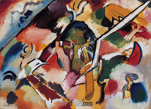 Sketch for Deluge I, 1912 | Kandinsky| Painting Reproduction