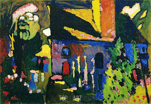 Church at Murnau, 1909 | Kandinsky | Painting Reproduction