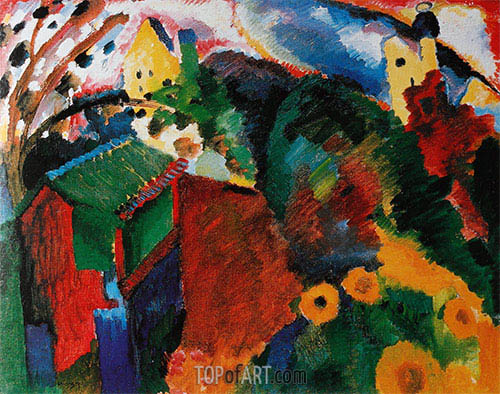 Murnau - Garden I, 1910 | Kandinsky | Painting Reproduction