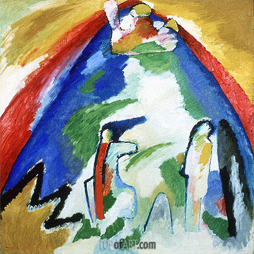 Mountain, 1909 | Kandinsky | Painting Reproduction