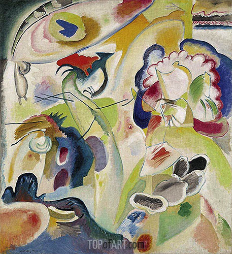 Improvisation No. 29 (The Swan), 1912 | Kandinsky | Painting Reproduction