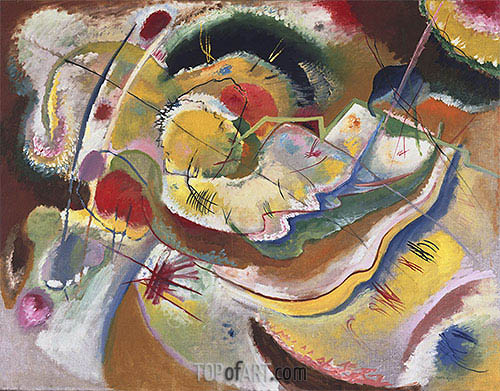 Little Painting with Yellow (Improvisation), 1914 | Kandinsky | Painting Reproduction