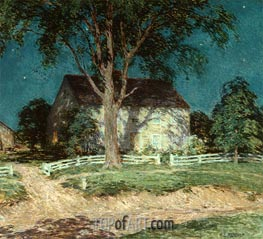 Old Homestead Connecticut, c.1914 by Willard Metcalf | Painting Reproduction