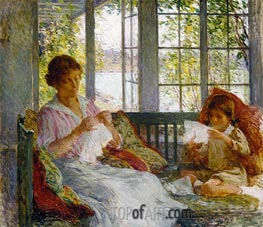 My Wife and Daughter | Willard Metcalf | outdated