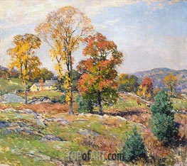 The Approaching Festival | Willard Metcalf | outdated