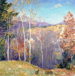 October Sunshine | Willard Metcalf | Painting Reproduction