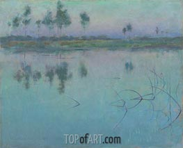 Reflections, Grez-sur-Loing | Willard Metcalf | Painting Reproduction