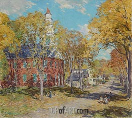 October Morning: Deerfield, Mass, 1917 by Willard Metcalf | Painting Reproduction