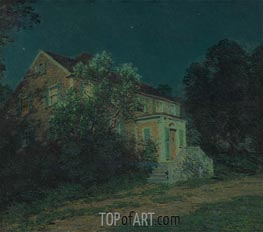 The White Lilacs | Willard Metcalf | Painting Reproduction