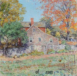 Corner of the Garden, 1920 by Willard Metcalf | Painting Reproduction
