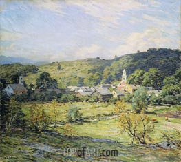 September Morning, Plainfield, New Hampshire, undated by Willard Metcalf | Painting Reproduction