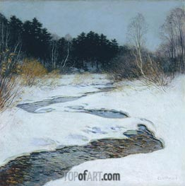 Thawing Brook, 1917 by Willard Metcalf | Painting Reproduction
