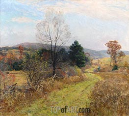 Late Autumn, c.1924 by Willard Metcalf | Painting Reproduction