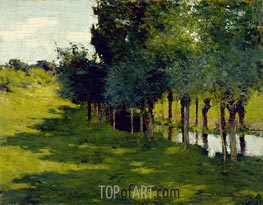 Sunlight and Shadow, 1888 by Willard Metcalf | Painting Reproduction