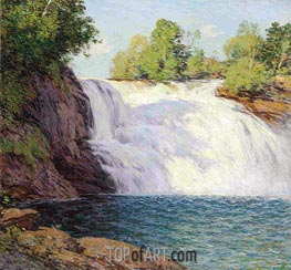 The Waterfall, undated by Willard Metcalf | Painting Reproduction