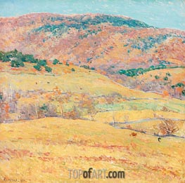 Mountain Pastures - Vermont, 1924 by Willard Metcalf | Painting Reproduction