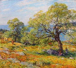 A Seaside Pasture | Willard Metcalf | Painting Reproduction
