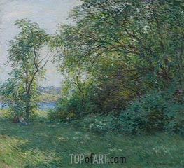 The Bower | Willard Metcalf | Painting Reproduction