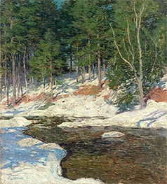 Icebound, 1909 by Willard Metcalf | Painting Reproduction