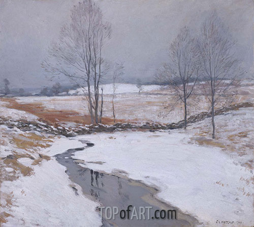 Willard Metcalf | The First Snow, 1906