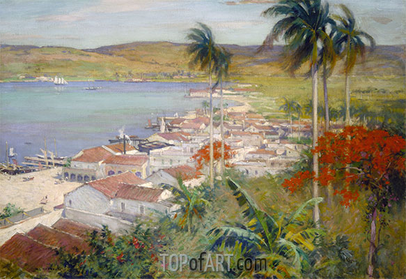 Havana Harbor, 1902 | Willard Metcalf | Painting Reproduction