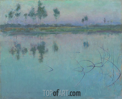 Reflections, Grez-sur-Loing, 1886 | Willard Metcalf | Painting Reproduction