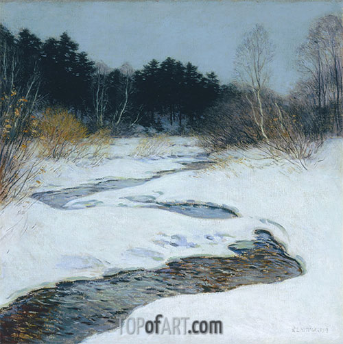 Willard Metcalf | Thawing Brook, 1917