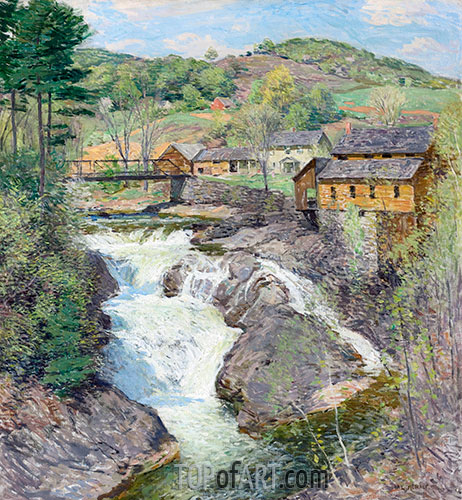 Die Wasserfälle, c.1909/10 | Willard Metcalf | Gemälde Reproduktion