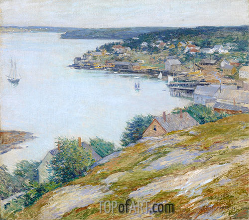 East Boothbay Harbor, Maine, 1904 | Willard Metcalf | Painting Reproduction