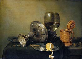 Still Life, 1634 by Claesz Heda | Painting Reproduction