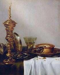 Breakfast Still Life with Chalice, 1634 von Claesz Heda | Gemälde-Reproduktion