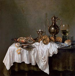 Breakfast with a Crab, 1648 by Claesz Heda | Painting Reproduction