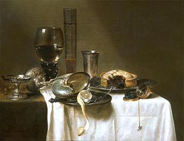 Still Life with Nautilus Cup, 1641 by Claesz Heda | Painting Reproduction