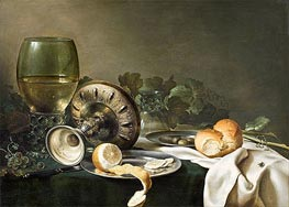 Still Life with Fly, undated by Claesz Heda | Painting Reproduction