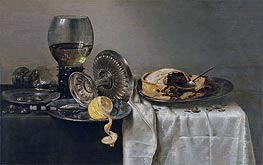 Still Life with Fruit Pie and various Objects | Claesz Heda | veraltet
