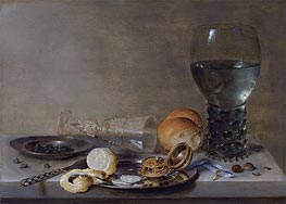Still Life of a Roemer and a Facon de Venise | Claesz Heda | Gemälde Reproduktion
