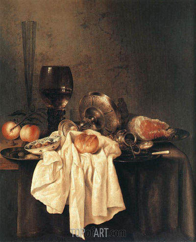 Still-Life, 1651 | Claesz Heda| Painting Reproduction