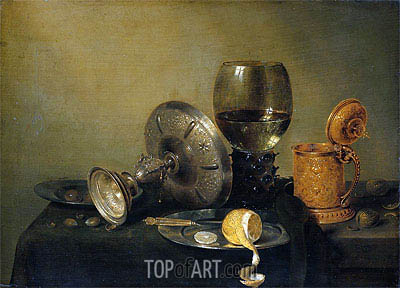 Still Life, 1634 | Claesz Heda| Painting Reproduction