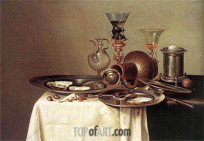 Still Life, 1637 | Claesz Heda | Painting Reproduction