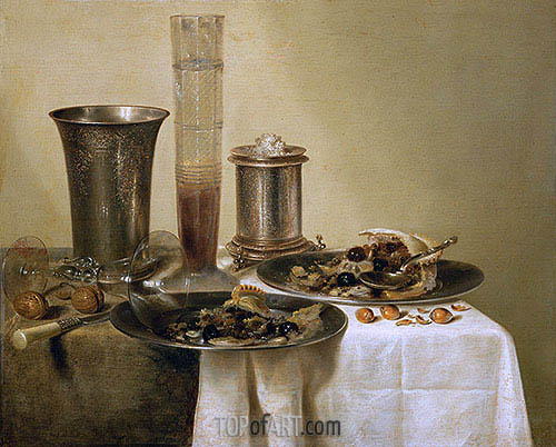 Still Life with Silver Goblets, 1637 | Claesz Heda | Painting Reproduction