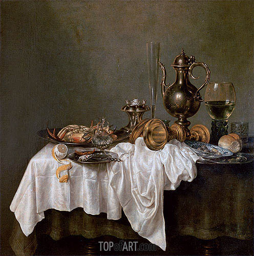 Breakfast with a Crab, 1648 | Claesz Heda | Painting Reproduction