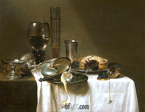 Still Life with Nautilus Cup, 1641 | Claesz Heda| Painting Reproduction